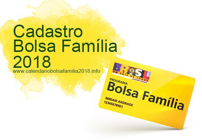 Cadastro Bolsa Família 2018