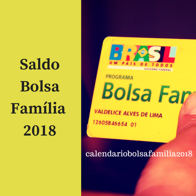 Saldo Bolsa Família 2018